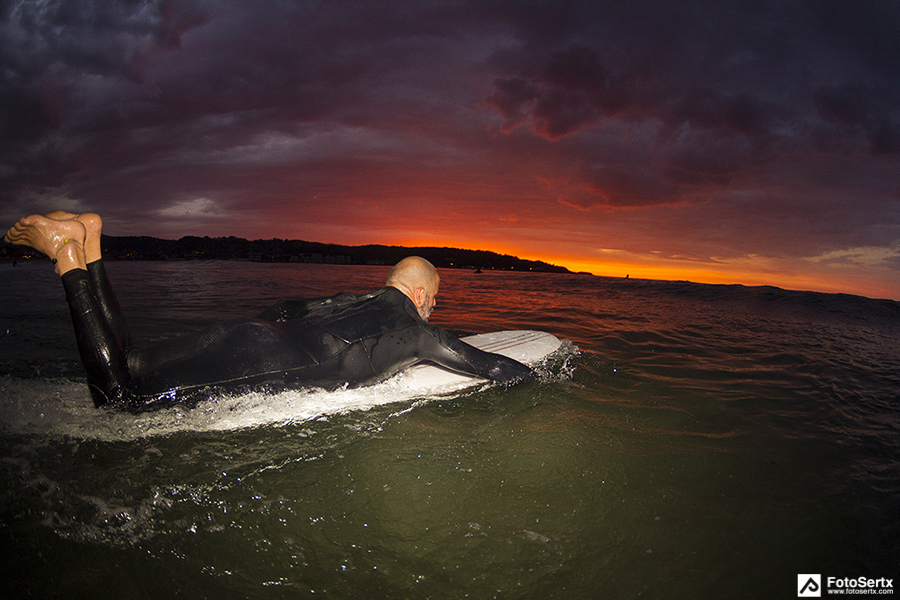 longboard_hendaye_surg_sunset_flash_france